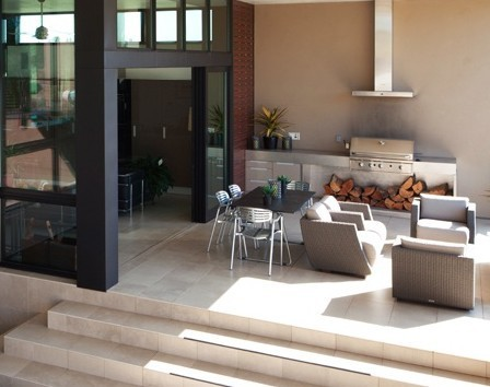 Outdoor living space with gourmet BBQ