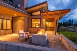 The patio of a Green Builder Award winning home