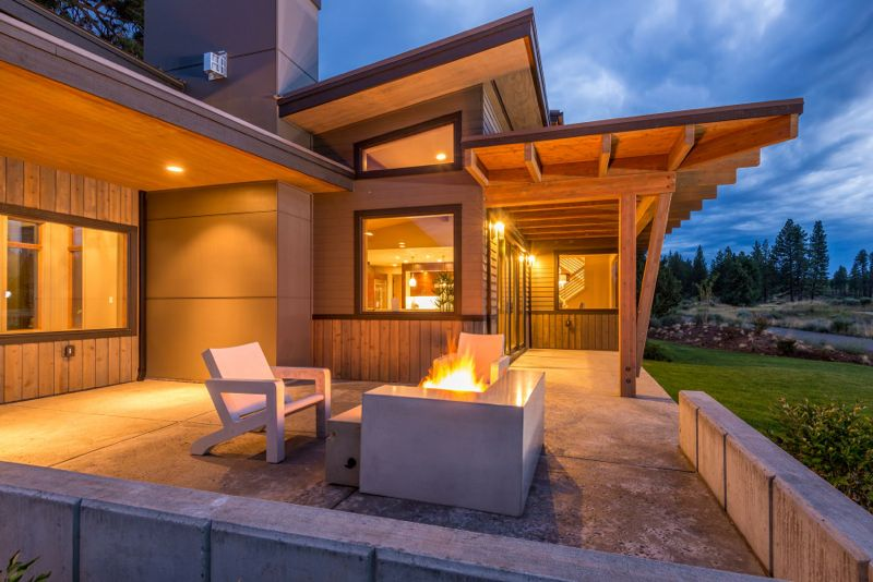 Outdoor Firepit Home Tetherow Bend Oregon